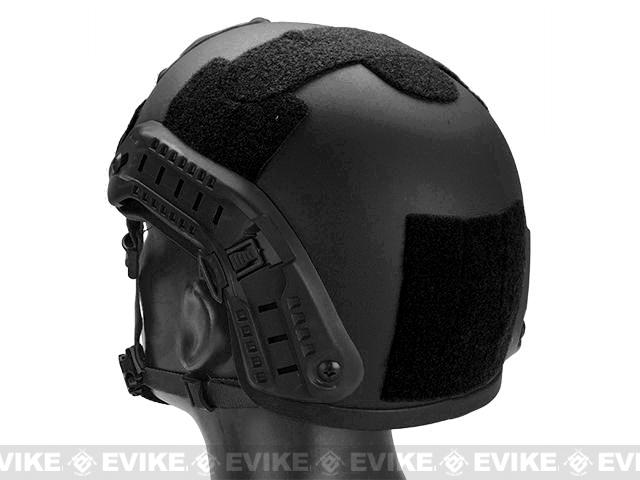 MICH 2001 Helmet w/ NVG Mount & Side Rail for Airsoft - Black