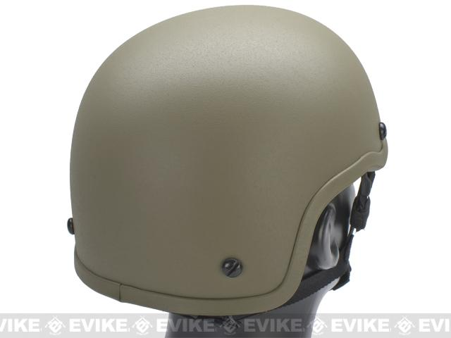 MICH 2001 Fiberglass Airsoft Helmet by Matrix - Tan