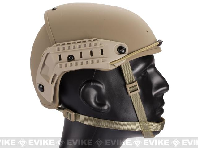 Matrix Airsoft Air Force Type Helmet w/ Rails - Tan