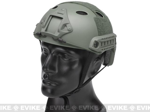 Emerson Bump Type Tactical Airsoft Helmet (PJ Type / Basic / Foliage Green)