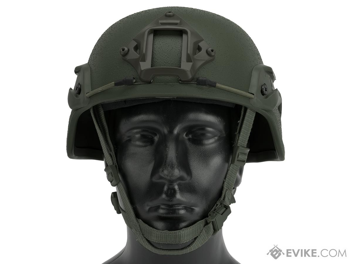 Matrix Mich 2000 Helmet w/ NVG Mount & Side Rail For Airsoft - OD Green