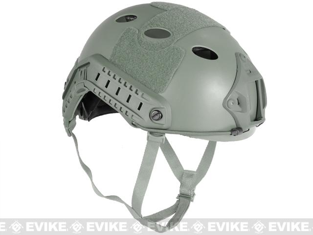 Emerson FAST Type Tactical Airsoft Helmet (PJ Type / Advanced / Foliage Green)