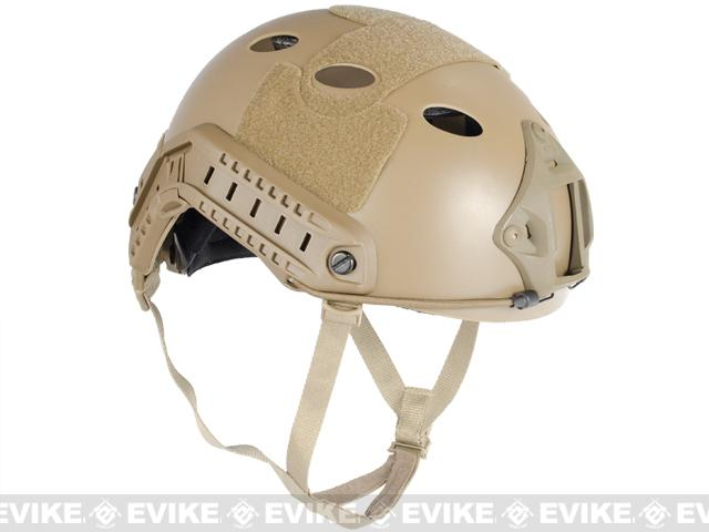 Emerson FAST Type Tactical Airsoft Helmet (PJ Type / Advanced / Dark Earth)