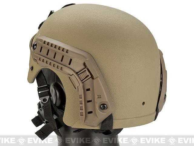 Matrix Professional Grade Airsoft IBH Helmet w/ NVG Mount Base & Rails - Tan