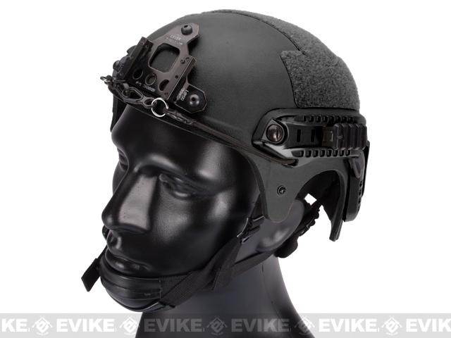 Matrix Professional Grade Airsoft IBH Helmet w/ NVG Mount Base & Rails - Black