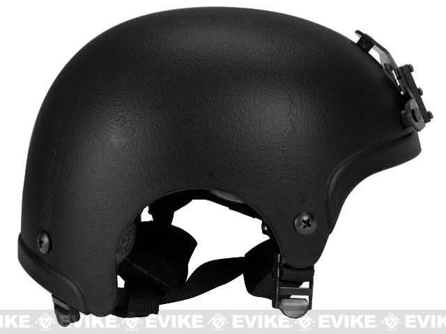 Light Weight IBH Airsoft Helmet w/ NVG Mount by Marix / Lancer - Black