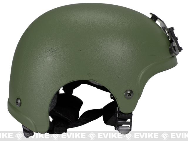 Light Weight IBH Airsoft Helmet w/ NVG Mount by Marix / Lancer - OD Green