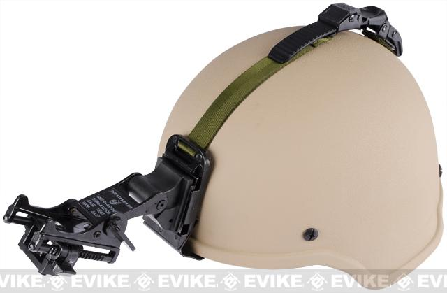 Matrix MICH 2000 Helmet w/ NVG Mount & Mount Base - (Tan)