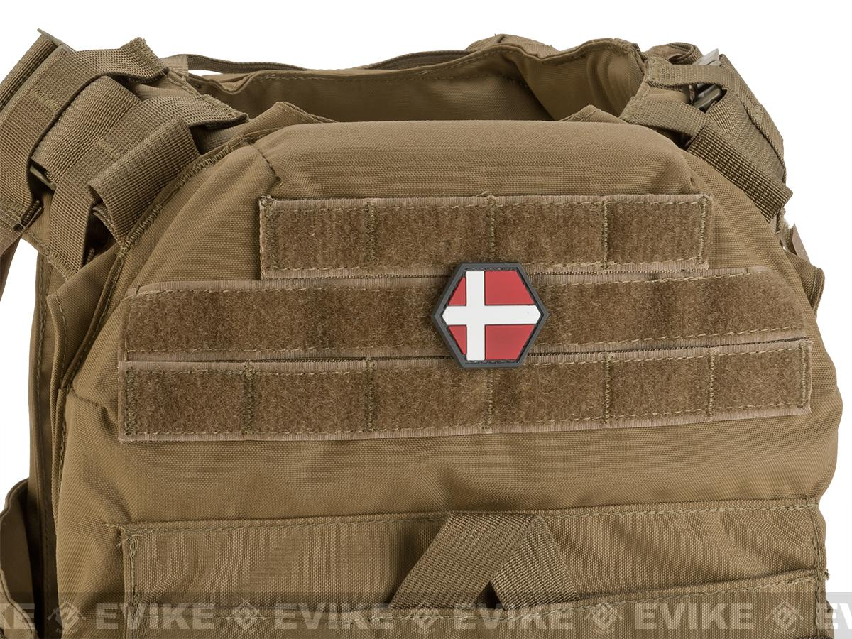 Operator Profile PVC Hex Patch Flag Series (Country: Denmark)