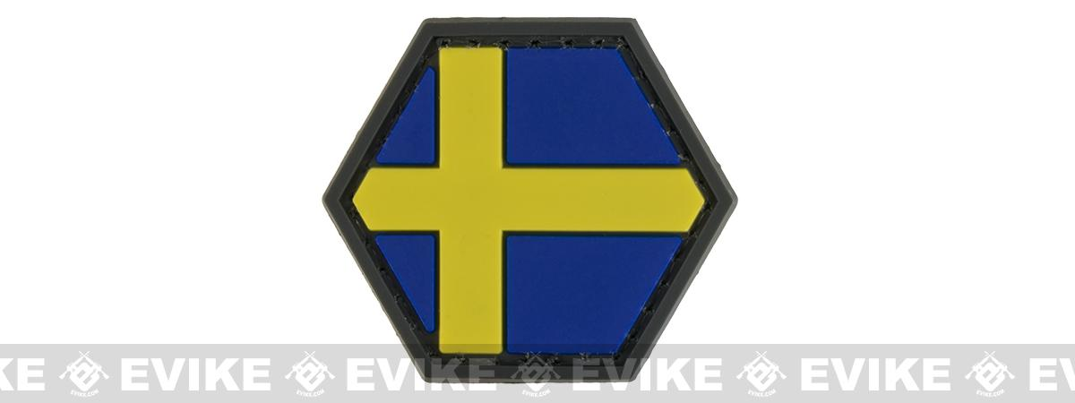 Operator Profile PVC Hex Patch Flag Series (Country: Sweden)