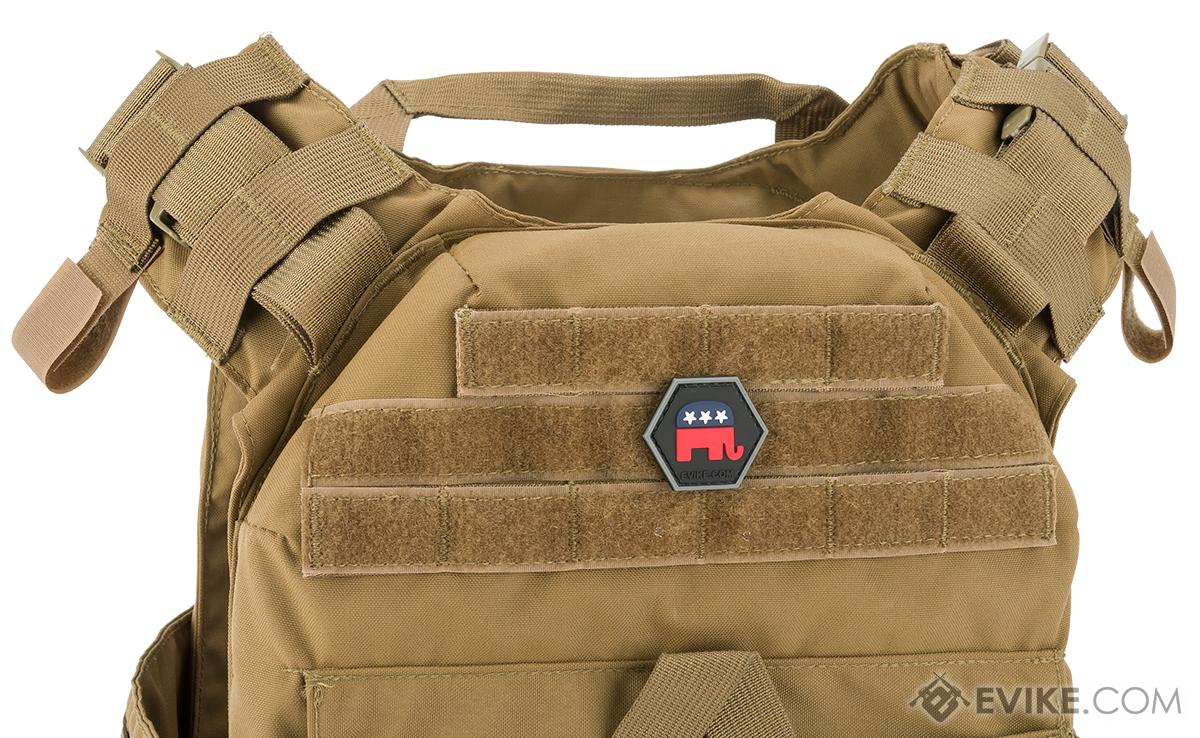 Operator Profile PVC Hex Patch  Political Party Series (Party: Republican)