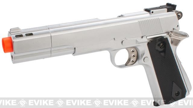 HFC M1911 Elite .45 Long Barrel Airsoft Non-Blowback Gas Pistol (Color: Silver)