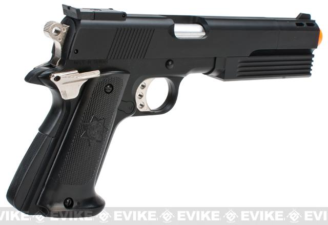 HFC M1911 Super Killer Long Barrel Airsoft Non-Blowback Gas Pistol - Black