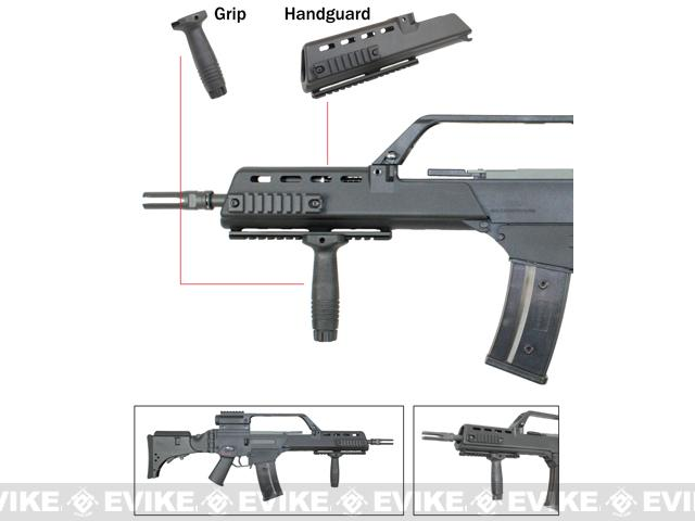 RIS Handguard Set for H&K G36 Series Airsoft AEG Rifles - Dark Earth