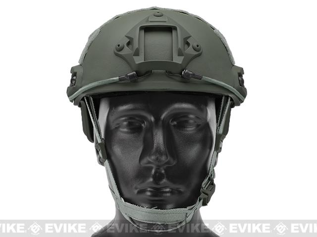 6mmProShop Bump Type Tactical Airsoft Helmet (MICH Ballistic Type / Advanced / Foliage Green)