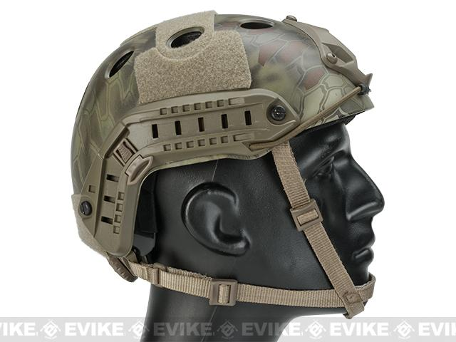 6mmProShop Bump Type Tactical Airsoft Helmet (PJ Type / Advanced / Kryptek Mandrake)