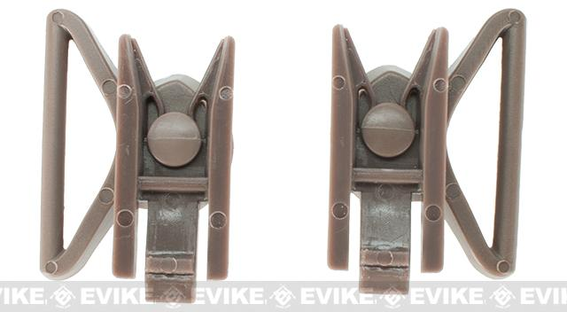Avengers Goggle Swivel Clips for Bump Helmet - Tan (Large)