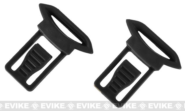 Emerson Replacement Standard Strap Clips for Bump Helmet Rails - Black