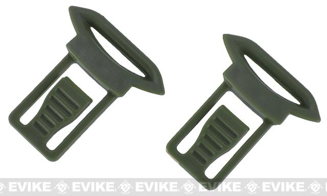 Emerson Replacement Standard Strap Clips for Bump Helmet Rails - OD Green