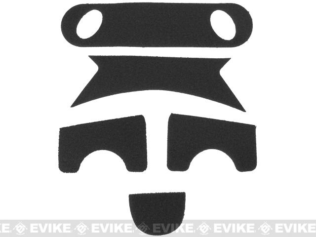 Emerson Hook and Loop  Adhesive Strips for PJ Type Bump Helmets - Black