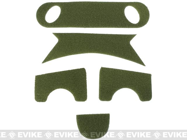 Emerson Hook and Loop Adhesive Strips for PJ Type Bump Helmets - OD Green
