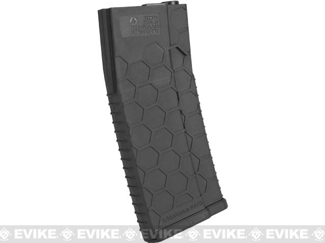 Hexmag Airsoft 120rds Polymer Mid-Cap Magazine for M4 / M16 Series Airsoft AEG Rifles - Black (Single)