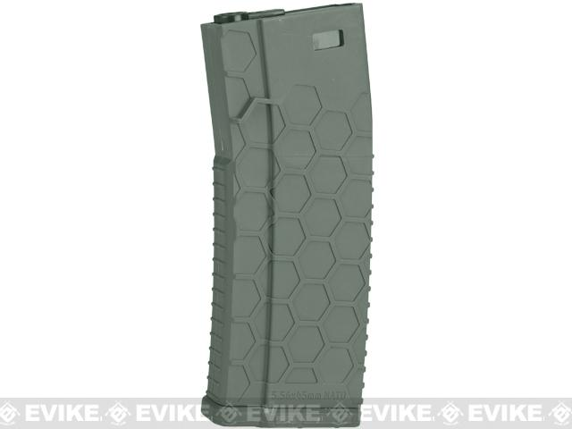 Hexmag Airsoft 120rds Polymer Mid-Cap Magazine for M4 / M16 Series Airsoft AEG Rifles - OD Green (Single)