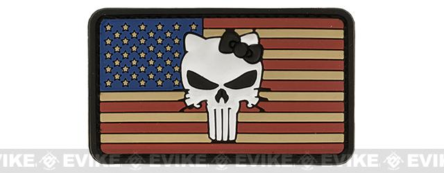 Hello Punisher Stars & Stripes PVC Morale Hook and Loop Patch