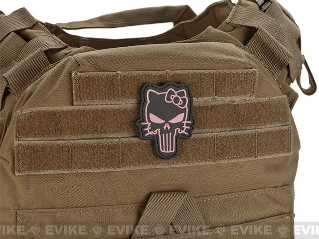 Hello Punisher PVC Morale Hook and Loop Patch - Pink/Black