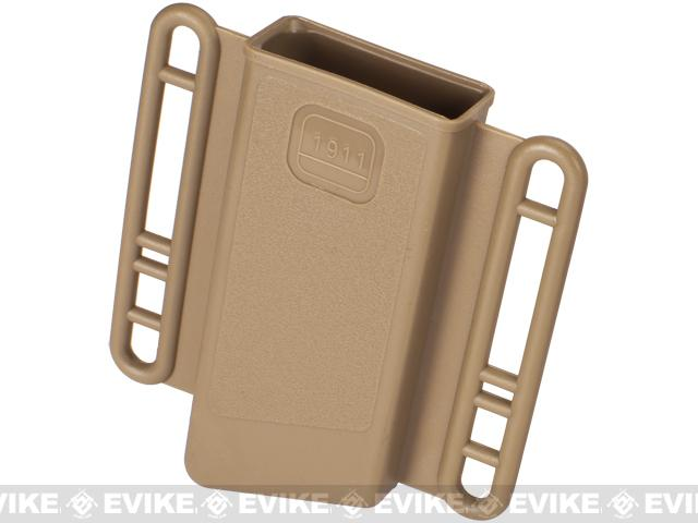 Avengers Mag Holster for Airsoft 1911 (Single Stack) Series Magazines - Set of 2 / Tan