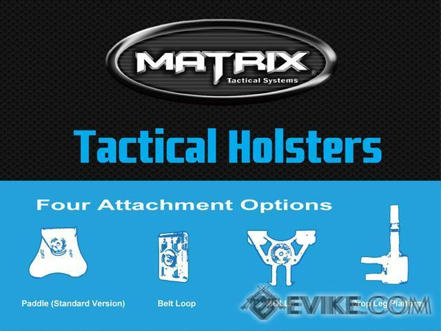 Matrix Hardshell Adjustable Holster for M9 Airsoft Pistols (Mount: Paddle Attachment)