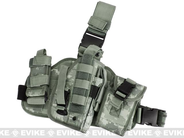 Firedragon Drop Leg Panel w/ Holster and Pouch Set - ACU