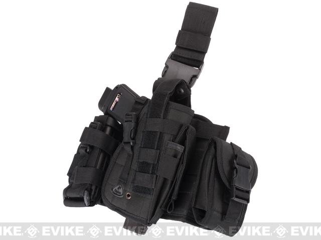 Matrix Drop Leg MOLLE Platform w/ Holster and Pouch Set - Black