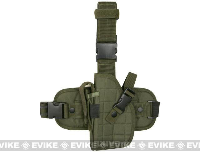 Special Force Quick Draw Tactical Thigh Holster w/ Drop Leg Panel (OD Green / Left Leg)