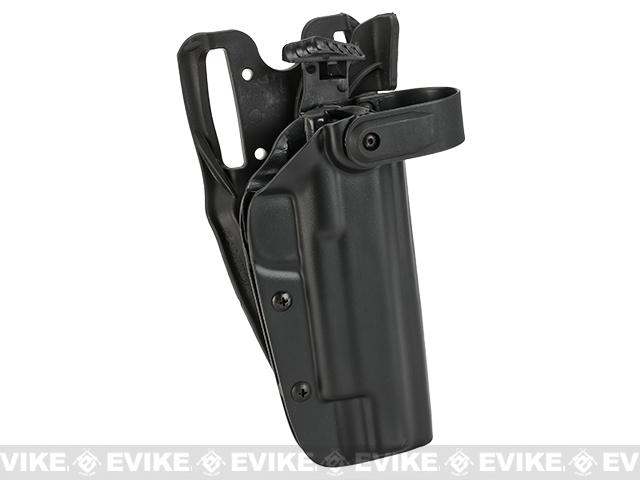 Blade-Tech WRS Level II Duty Holster w/ Duty Dropped Offset Belt Mount - 1911 5 w/ Rail (Right Hand - Black)