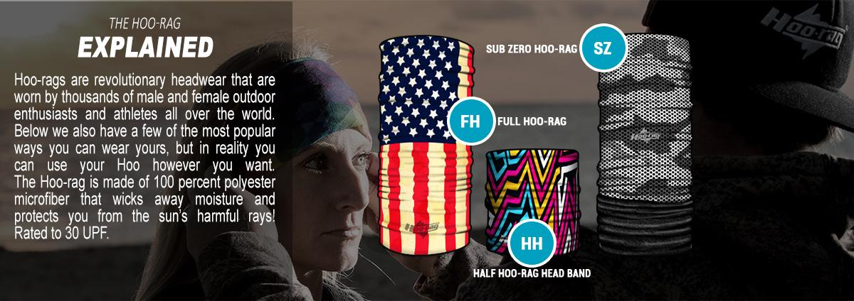 Hoo-rag Full-Hoo Multiuse Face Protection - Old Glory