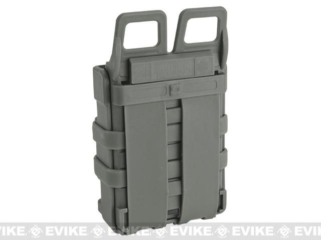High Speed MOLLE Compatible Airsoft M4 Mag Carrier - Foliage Green / Set of 2