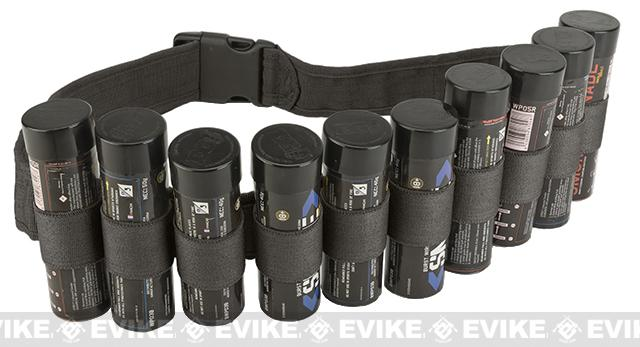 Enola Gaye Hang Ten Belt / Bandolier for Airsoft Smoke Grenades - Black