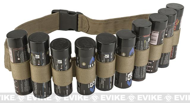 Enola Gaye Hang Ten Belt / Bandolier for Airsoft Smoke Grenades - Tan