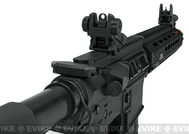 ICS CXP HOG Keymod Airsoft AEG - Black (Front Wired)