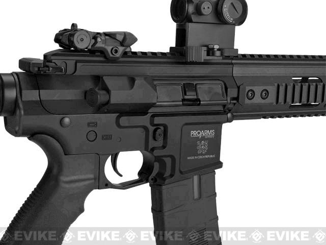 ICS PAR MK3 C MTR 10.5 Proarms Armory Licensed Proline EBB Airsoft AEG Rifle - Black