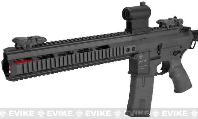 ICS PAR MK3 MTR CQB Proarms Armory Licensed Proline EBB Airsoft AEG Rifle - Black