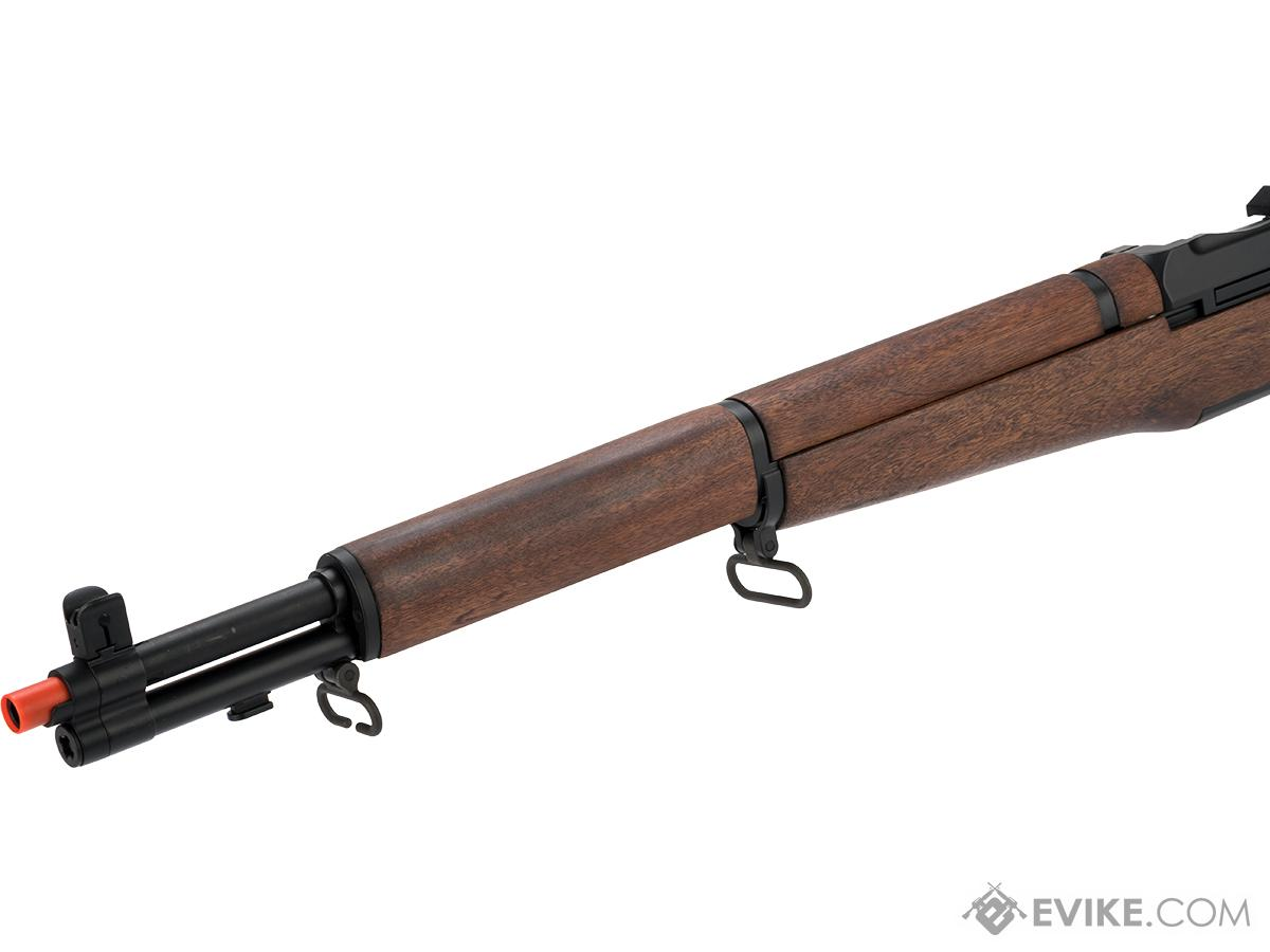 ICS M1 Garand Full Size Airsoft AEG Rifle with Real Wood Stock (Model: Standard)