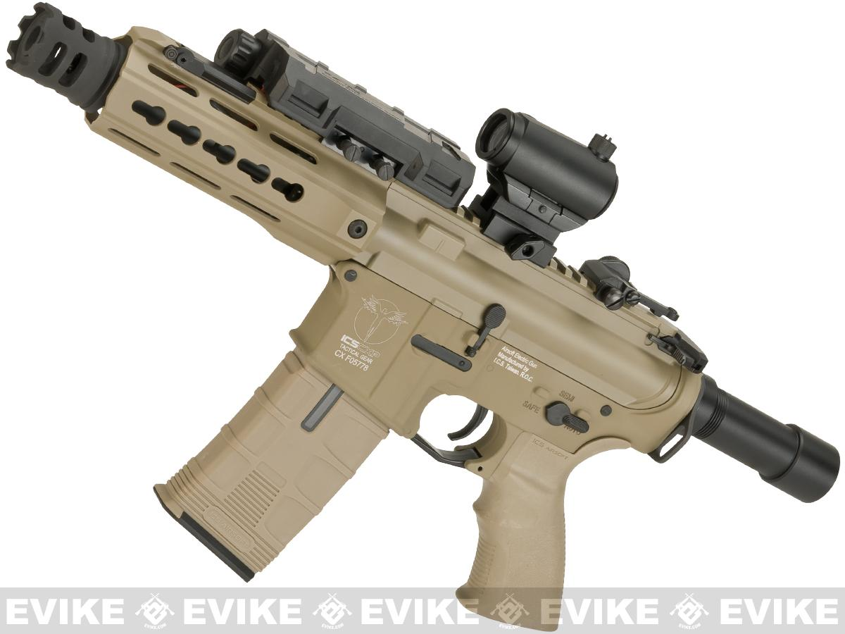 ICS CXP-UK1 Captain M4 Pistol Airsoft AEG with Full Metal Receiver - Tan