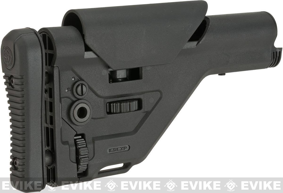 ICS UKSR Adjustable Sniper Rifle Stock for M4/M16 Series Airsoft AEGs - Black