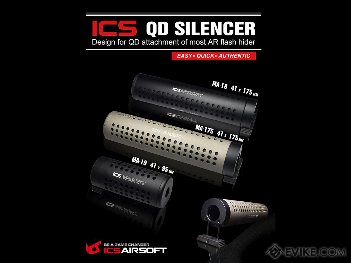 ICS QD Type Mock Silencer Barrel Extension for M4 / M16 Series Airsoft AEG
