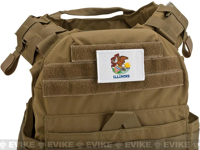 Evike.com Tactical Embroidered Flag Patch (State: Illinois The Prairie State)