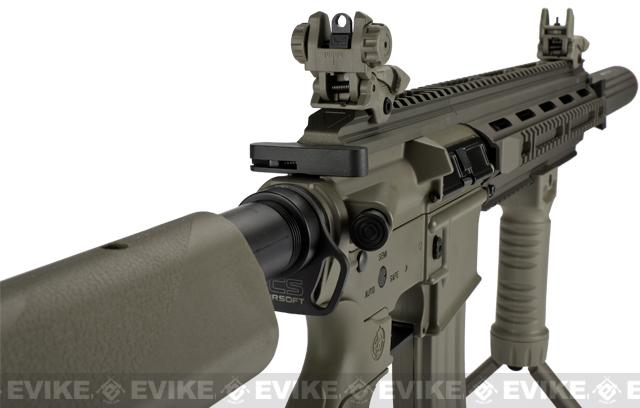 ICS CXP16L Full Metal Airsoft AEG Rifle w/ Mock Silencer - Tan