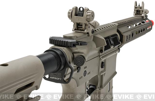 ICS CXP Pro Line Transform-4 260 Keymod Electric Blowback Airsoft AEG Rifle - Tan (Front Wire)