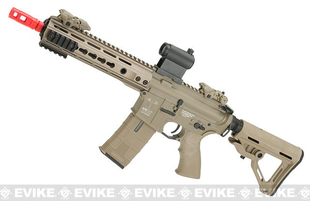 ICS CXP Pro Line Transform-4 260 Keymod Electric Blowback Airsoft AEG Rifle - Tan (Rear Wire)